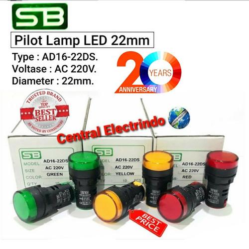 Foto Produk PILOT LAMP LED AD16 22mm SB STANDARD. - Kuning dari central electrindo