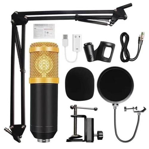 Foto Produk Mic Microphone BM800 BM-800 PAKET KOMPLIT Youtuber Vlogger Tiktok dari Amao Shop