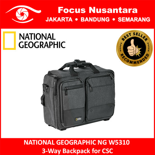 Foto Produk NATIONAL GEOGRAPHIC NG W5310 3-Way Backpack for CSC dari Focus Nusantara