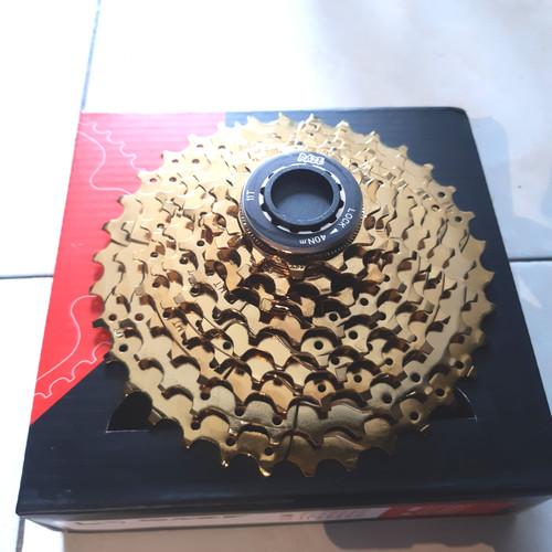 Foto Produk sprocket raze gold 9 speed 11 - 34t dari farras bikes