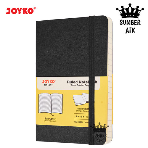 Foto Produk Ruled Notebook Diary Agenda Buku Catatan Bergaris Joyko NB-662 - Hitam dari SUMBER ATK OFFICIAL STORE