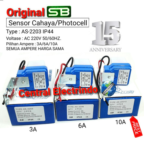 Foto Produk Sensor Cahaya Photo Foto Cell SB 3A/6A/10A (model Selcon). - 3A dari central electrindo