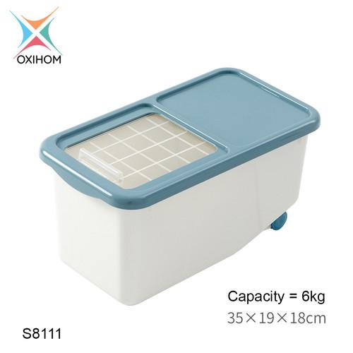Foto Produk Oxihom S811 Tempat Beras Kacang Penyimpanan Makanan Rice Storage - S8111 Biru dari Oxihom