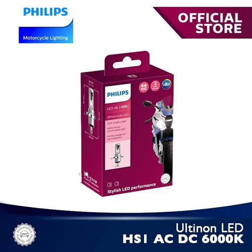 Foto Produk Ultinon LED HS1 AC DC 6000K 11636UMX1 Bola Lampu Motor Philips dari Philips Moto