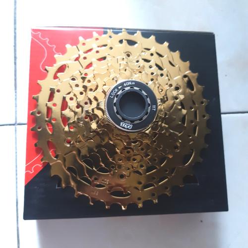 Foto Produk sprocket raze gold 8 speed 11 - 36t dari farras bikes