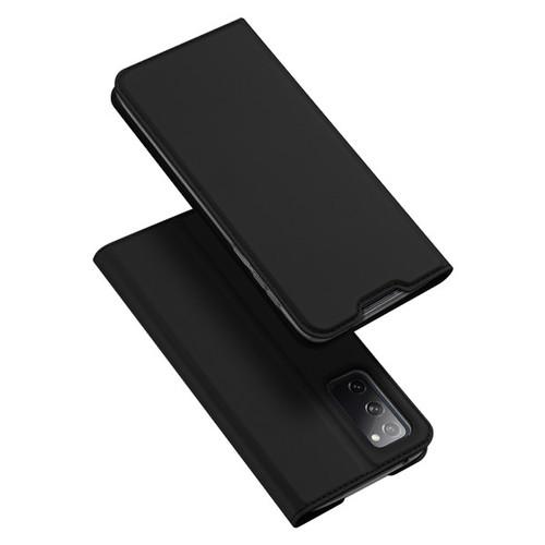 Foto Produk Case Samsung S20 FE - Dux Ducis Original Premium Flip Leather Casing - Hitam dari Gojali