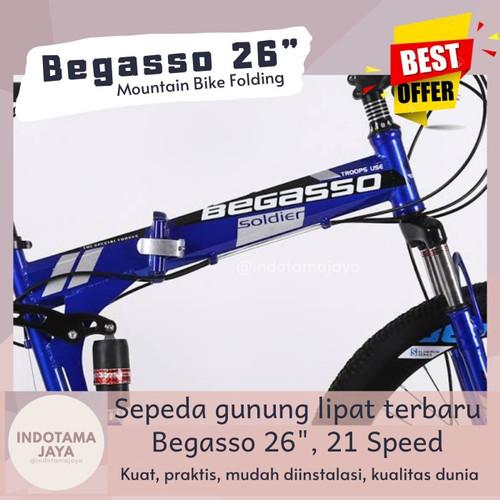 Foto Produk (Indotama) Begasso 26 Folding Mountain Bike Sepeda Gunung Lipat dari Indotama Jaya
