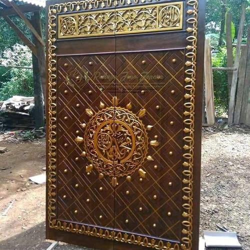 Foto Produk pintu kupu tarung ukiran motif masjid nabawi dari tokoh furniture murah