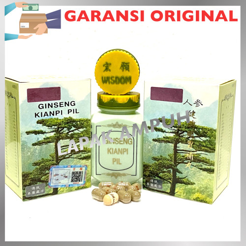 Foto Produk Ginseng Kianpi Pil Wisdom Hologram Asli - Obat Gemuk dari Lapak Ampuh