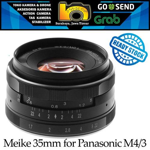 Foto Produk Lensa Meike 35mm F1.7 For Mirrorless Panasonic & Olympus Mount M 4/3 - Meike 35mm Only dari Invicom