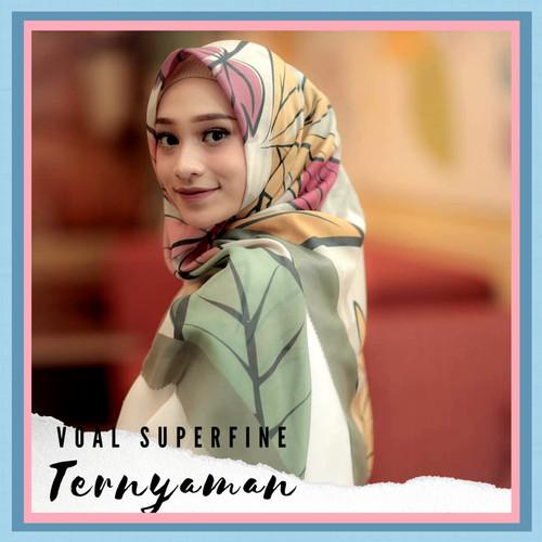 Foto Produk Hijab Voal Printing Premium Jilbab Segiempat Motif dari RizQu Hijab