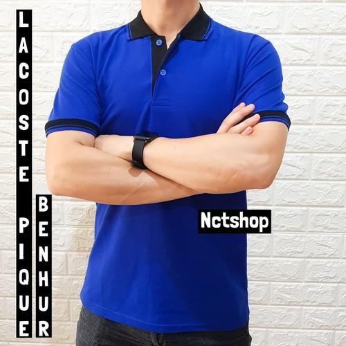 Foto Produk Nctshop Kaos Polo Kerah Kombinasi Murah Kualitas Bagus - Polo Shirt - M, Putih dari nctshop indonesia