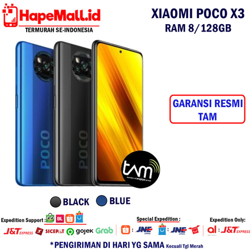 Foto Produk XIAOMI POCO X3 NFC 8/128GB GARANSI RESMI TERMURAH - Biru dari Hapemall.id