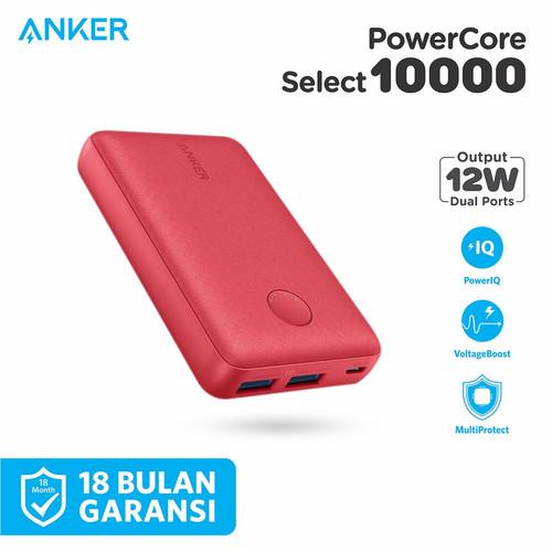 Foto Produk Powerbank Anker Powercore Select 10000mAh Black - A1223 - Merah dari Anker Indonesia