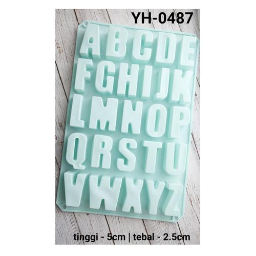 Foto Produk YH-0487 CETAKAN SILIKON cetakan coklat pudding huruf abjad alphabet dari Yamama Baking