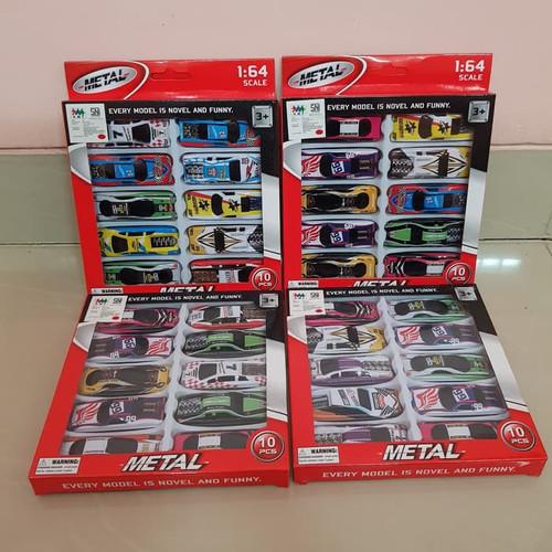 Foto Produk Diecast Set Mobil Sedan Mini Isi 10 Pcs Mainan Miniatur Mobil Mobilan dari AW GoodStore