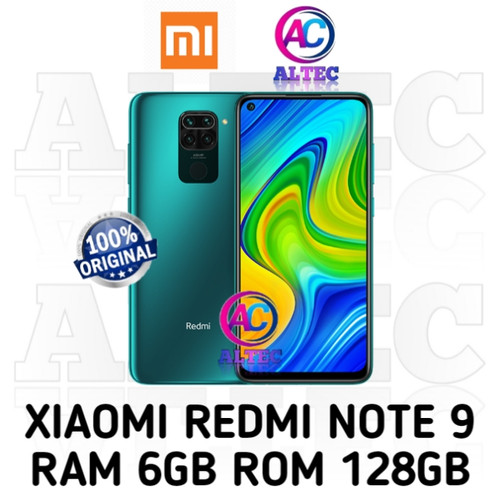 Foto Produk Xiaomi Redmi Note 9 6/128 RAM 6GB ROM 128GB GARANSI RESMI - Hijau dari Altec Cellular