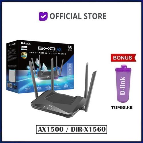 Foto Produk D-Link EXO AX1500 Smart WiFi 6 Wireless Router DLink DIR-X1560 AX 1500 dari DUNIA COMPUTER & SERVICE