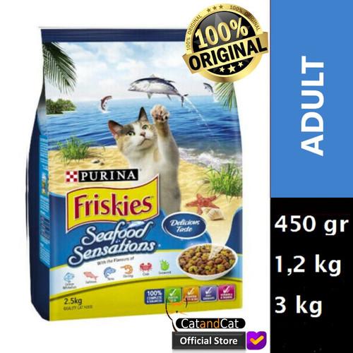 Foto Produk PURINA Friskies Seafood Sensation Semua Ukuran 450gr, 1,2kg dan 3kg - 450 gr dari catandcat