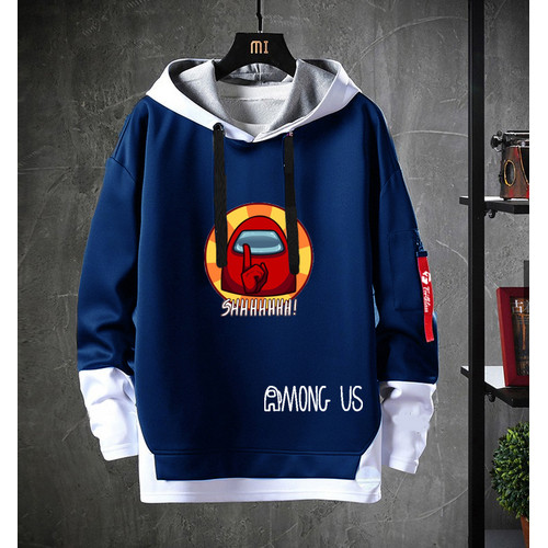 Foto Produk FortKlass AMONG US MIX Sweater Hoodie Pria Lengan Panjang Unisex - AMONG US NAVY dari FortKlass