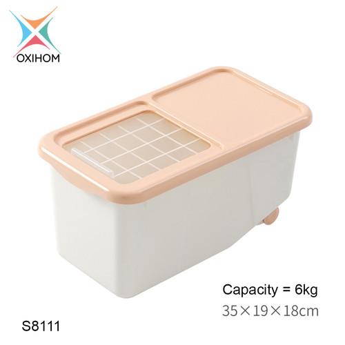 Foto Produk Oxihom S811 Tempat Beras Kacang Penyimpanan Makanan Rice Storage - S8111 Pink dari Oxihom