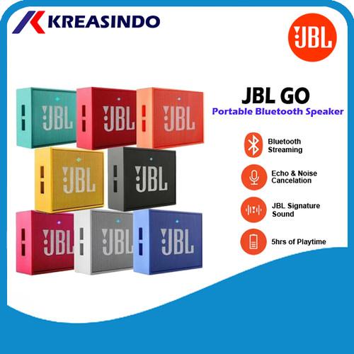 Foto Produk Speaker Portable Bluetooth JBL GO Original Garansi Resmi IMS - Hitam dari Kreasindo Online