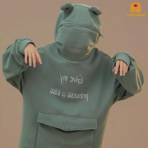Foto Produk frog hoodie modakawa with zipper pullover (size tulis di chat) - M dari GOLDLUCK.nsr STORE