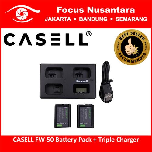 Foto Produk CASELL FW-50 Battery Pack + Triple Charger dari Focus Nusantara