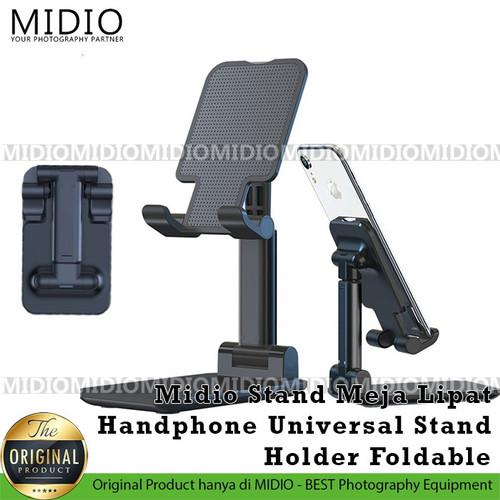 Foto Produk Midio Stand HP Meja Lipat Universal Stand Holder Foldable dari Midio