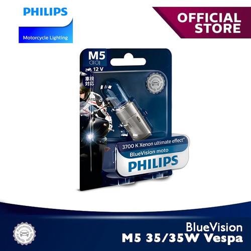 Foto Produk BlueVision 35/35W M5 (Vespa) 3700K 12152BVB1 Bola Lampu Motor Philips dari Philips Moto