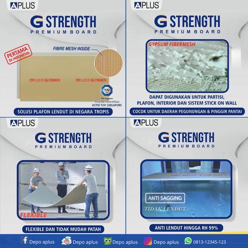 Foto Produk Gypsum Aplus G-Strength Premium Board 9mm x 1200 x 2400 Atap Plafon dari Depo Aplus