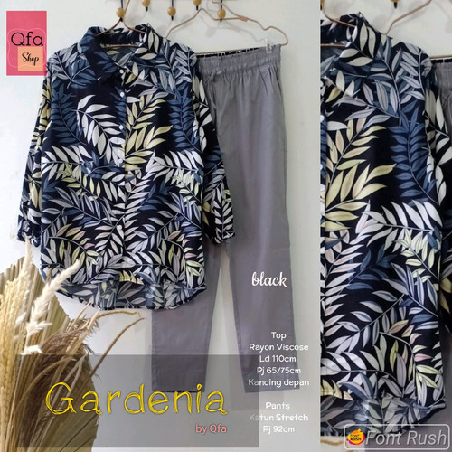 Foto Produk New Gardenia Set Setelan Celana Wanita Baju Kerja Modis LD 110cm XXL dari Ilyassa Shop