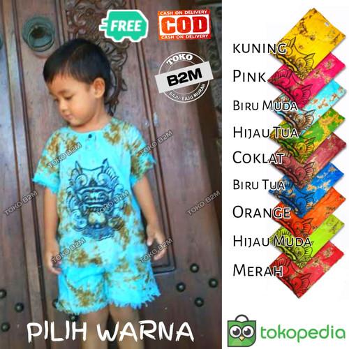 Foto Produk [Pilih Warna] Setelan Baju Barong Bali Anak Usia 1 - 8 Tahun - B2M - 1-2 tahun, Random Acak dari B2M