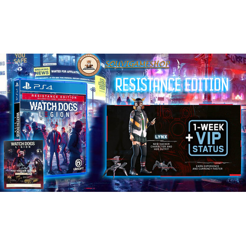 Foto Produk Watch Dogs Legion PS4/ WatchDogs Legion Resistance Edt PS4 Reg 3 - STANDARD ENG dari souvigameshop