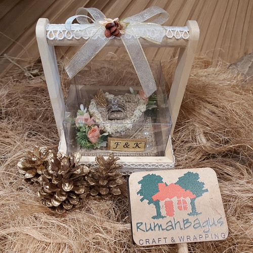 Foto Produk Kotak cincin nikah sudah di decor Rustic vintage dari Rumahbaguscraft