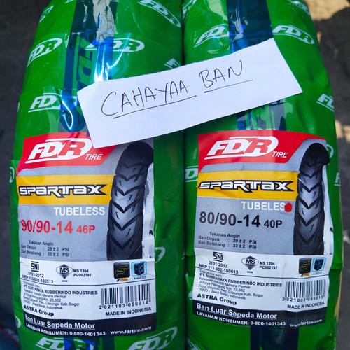 Foto Produk BAN LUAR MOTOR MATIC BEAT VARIO 125 1 PASANG DPN BLK FDR TUBLES dari cahayaa ban