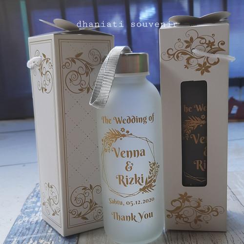 Foto Produk souvenir botol tumbler kaca dov + box dengan sablon dari dhaniati_souvenir