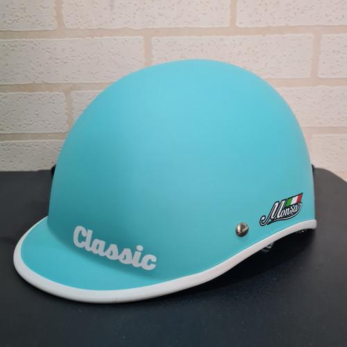 Foto Produk Helm sepeda MONSA CLASSIC ex thousand - sky blue doff, M dari Ideal Flora