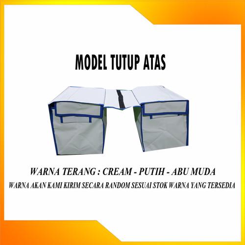 Foto Produk Tas Kurir Motor Anti Air Bahan Jala + Terpal ( DOUBLE ) ukuran Jumbo - WARNA TERANG dari jawara_terpal
