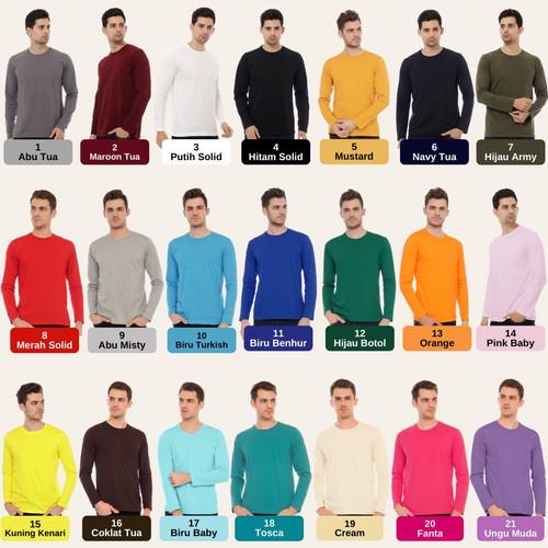 Foto Produk kaos polos cotton combed 30s lengan panjang top quality - S dari importir_polyflex