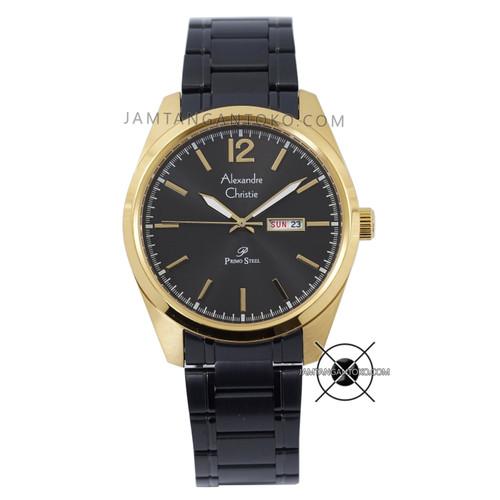 Foto Produk Jam Tangan Pria Alexandre Christie Primo AC 1012 ME Rantai Black Gold dari Jam Tangan Toko