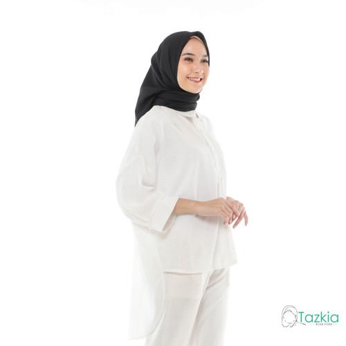 Foto Produk Atasan Muslim Wanita | Oversized Blouse Putih| Original dari Tazkia Hijab Store