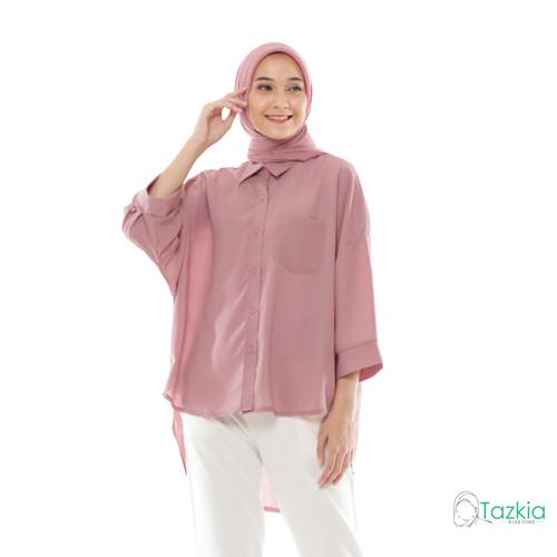 Foto Produk Atasan Muslim Wanita | Oversized Blouse Pink | Original dari Tazkia Hijab Store