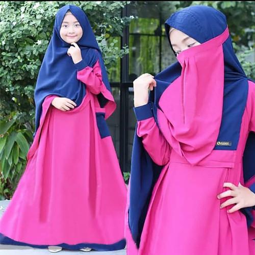 Foto Produk Baju Gamis Anak SHALIHA SYARI KIDS +KHIMAR+CADAR USIA 9-12 TAHUN - Fanta dari Kayra Hijab Store