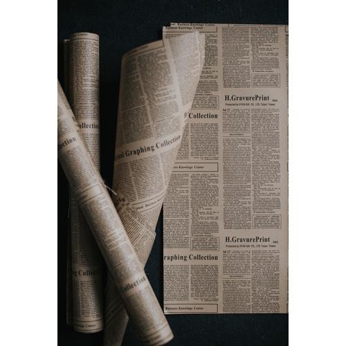 Foto Produk Kertas koran jadul alas properti foto rustic news paper bungkus bunga dari Indoprops