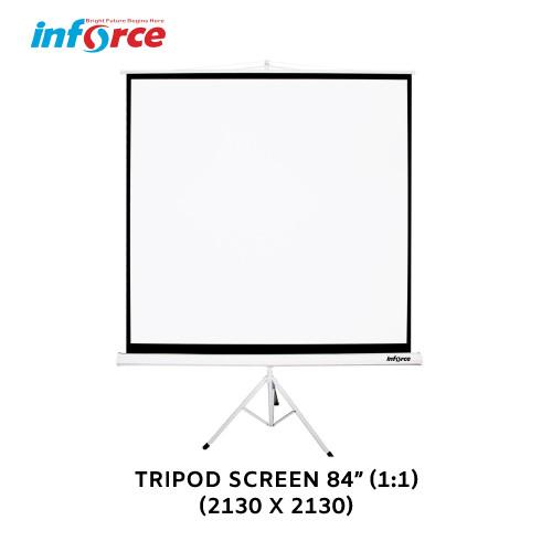 Foto Produk Tripod Screen Projector 84 1:1 / Layar Proyektor Inforce dari INFORCE INDONESIA