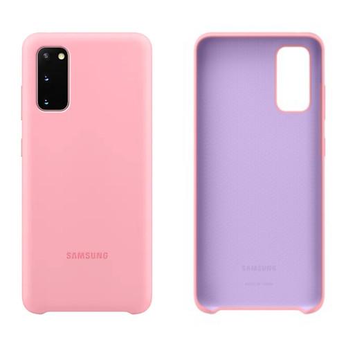 Foto Produk Original Samsung Galaxy S20 Plus Silicone Case Silikon Kesing Casing - Merah Muda, S20 dari Laku8pedia