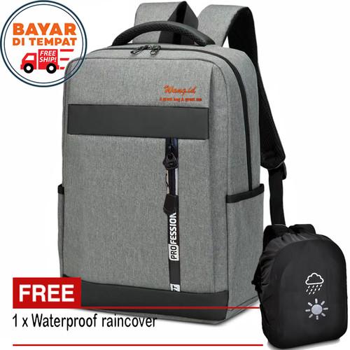 Foto Produk Tas Pria Tas Ransel Pria ZL01 Tas Backpack Tas Laptop Ori + Bag Cover dari Juragan Tas Import