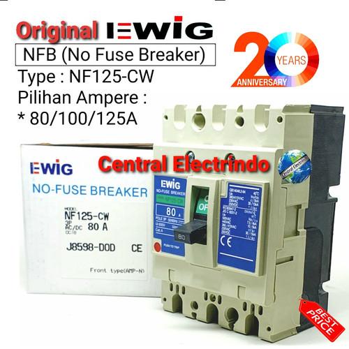 Foto Produk MCCB NFB 125CW 80A/100A/125A EWIG(model MITSUBISHI). - 125A dari central electrindo