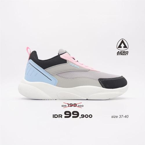 Foto Produk Aerostreet 37-40 Lemon Biru Pink - Sepatu Sneakers Casual Sport Wanita - 38 dari Aerostreet